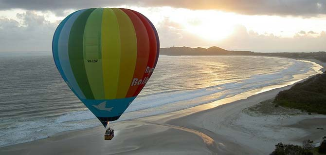 Hot Air Ballooning over Byron
