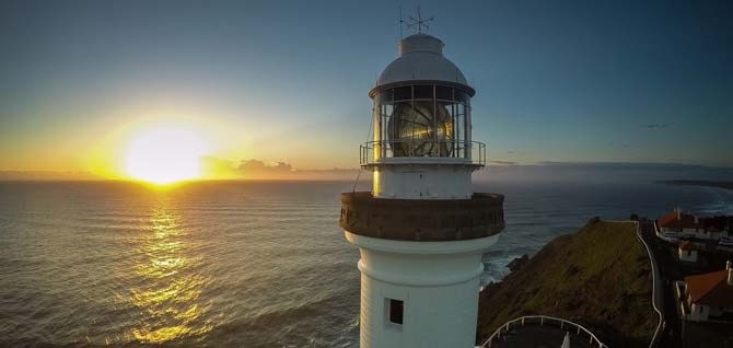 Byron Bay Lighthouse at Sunset
