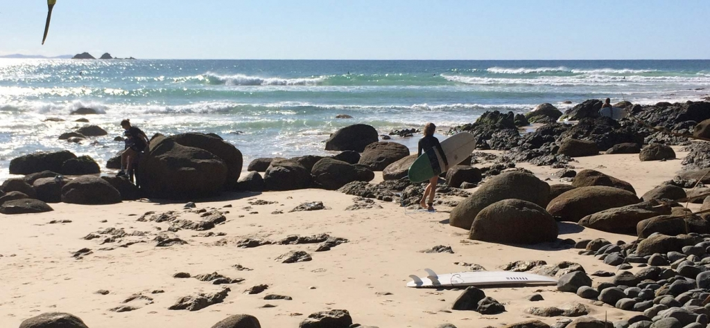 Going surfing in Byron Bay