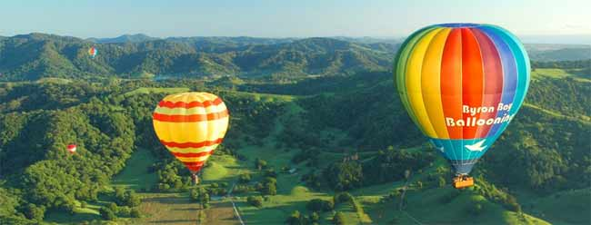 Balloning over Byron Hinterland